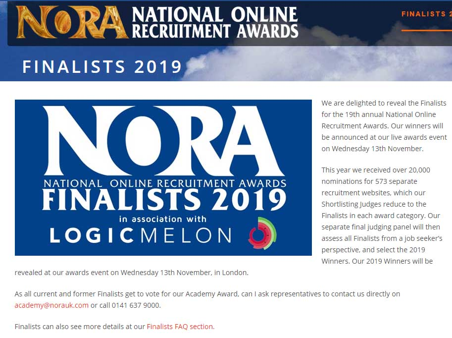 National Online Recruitment Awards (NORA)